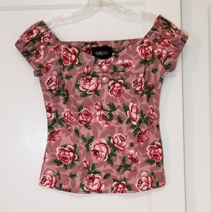 NWT Modcloth Sweetheart Bloom Top in Dusty Rose